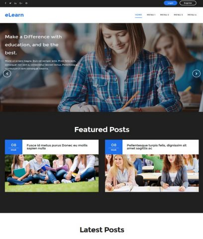 eLearn-Best-Free-Responsive-Latest-Blogger-Website-Templates