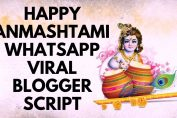 Happy Janmashtami 2019 HTML Blogger Mobile Friendly and SEO Ready Responsive Whatsapp Script