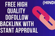 Dofollow Backlinks High quality with instant approval off page SEO techniques 2019 (Hindi)